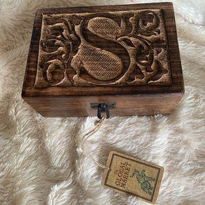 """ S "" Wooden Box"